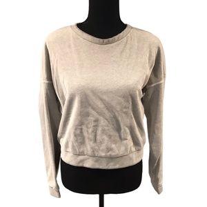 Cheap Monday Sweatshirt with Mesh Overlay small